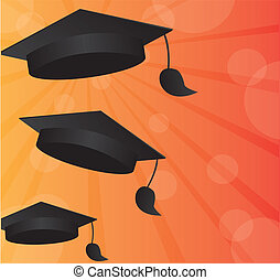 graduation background - black graduation with space ...