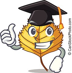 Graduation birch leaf isolated in the character vector...