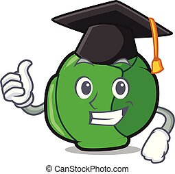 Graduation brussels character cartoon style vector...