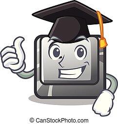Graduation button C in the mascot shape