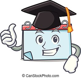 Graduation calendar character cartoon style