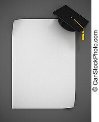 Graduation Cap 3d rendering - two variations