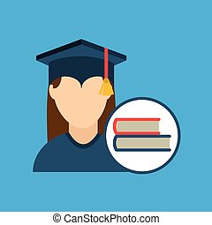 graduation cap and book icon