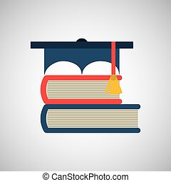 graduation cap and book icon