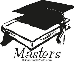 Graduation cap and book icon Vector illustration