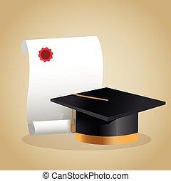 Graduation cap and diploma design