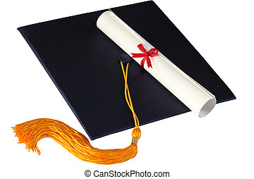 Graduation Cap and Diploma - Graduation cap and diploma...