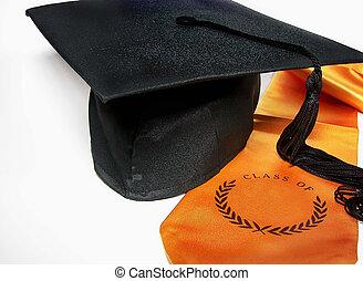 graduation cap and sash