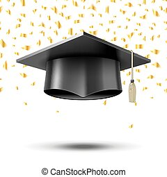 Graduation cap, education concept background