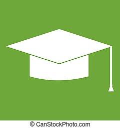Graduation cap icon green