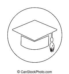 Graduation cap icon illustration design