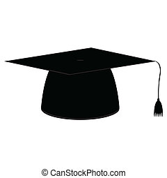 Graduation cap icon on white background
