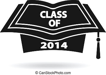 Graduation cap image logo