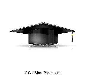 Graduation Cap isolated on white