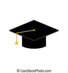 Graduation cap isolated