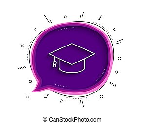 Graduation cap line icon. Education sign. Vector