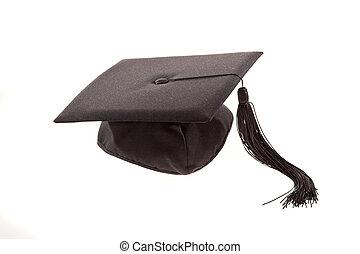 Graduation Cap - Graduation cap with tassel. Horizontally...