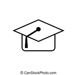graduation cap school education icon. Vector graphic