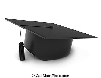 Graduation Cap - 3D Illustration of a Graduation Cap
