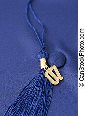 Graduation Cap - Graduation cap and tassle with a gold...