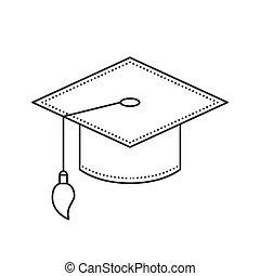 Graduation Cap thin line icon