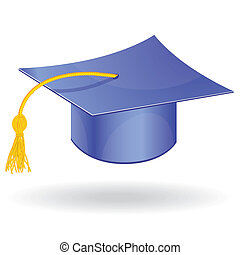 Graduation cap vector - Graduation student hat cap vector...
