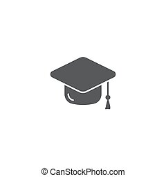 graduation cap vector icon concept, isolated on white background