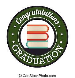 graduation card isolated icon