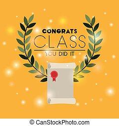 graduation card with diploma