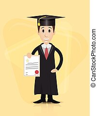 graduation cartoon character