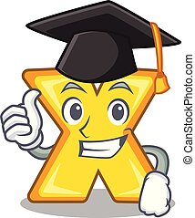 Graduation cartoon multiply of a delete sign