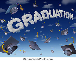 Graduation Celebration - Graduation celebration concept as a...