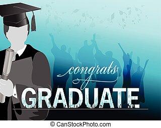 Graduation celebration silhouette