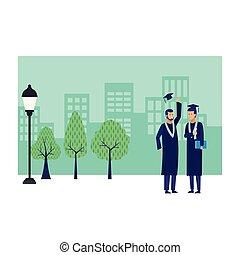 graduation ceremony diploma friends