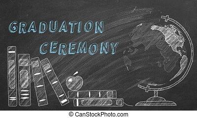 Graduation ceremony - Lettering GRADUATION CEREMONY , ...