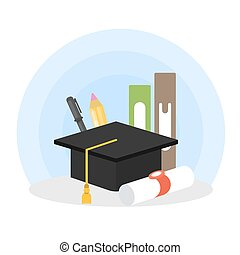 Graduation concept illustration.