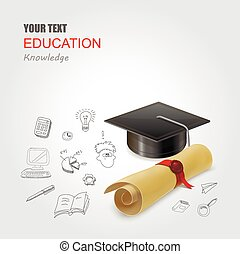 Graduation concept vector illustration infographic elements design