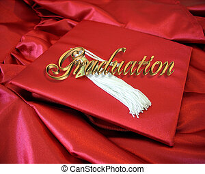 Graduation Congratulations - Image and illustrated 3D golden...