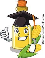 Graduation corn oil put into cartoon bottle