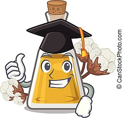 Graduation cottonseed oil isolated in the character vector ...