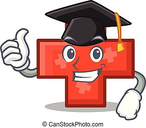 Graduation cross character cartoon style