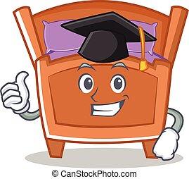 Graduation cute bed character cartoon
