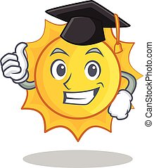 Graduation cute sun character cartoon