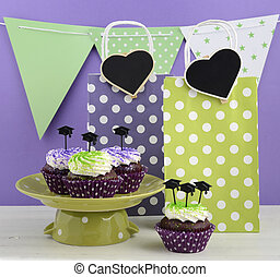 Graduation Day Green and Purple Party