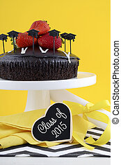 Graduation Day Party with Chocolate Cake.