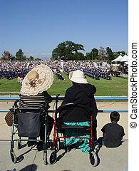 Graduation day - Grandmothers watching graduation ceremony