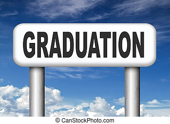 graduation day graduate and get a diploma on the university...