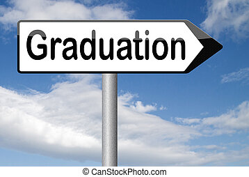 graduation day graduate and get a diploma at the university...