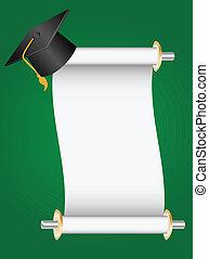 graduation - diploma and cap