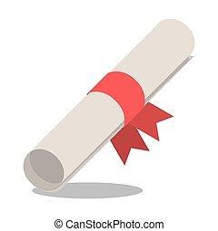 Graduation diploma with ribbon design - Diploma with ribbon...